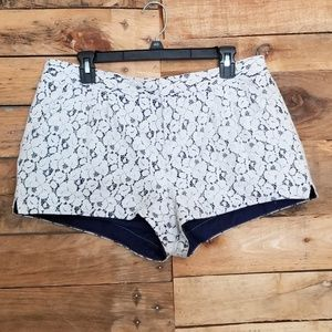 ❣ I Heart Ronson Floral Lace Shorts White 12